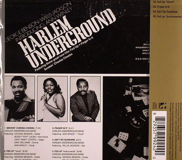 Harlem underground band - back sleeve